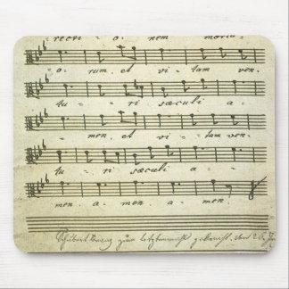 Vintage Sheet Music, Antique Musical Score 1810 Mouse Pad