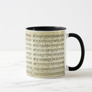 Vintage Sheet Music, Antique Musical Score 1810 Mug