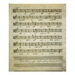 Vintage Sheet Music, Antique Musical Score 1810 Poster