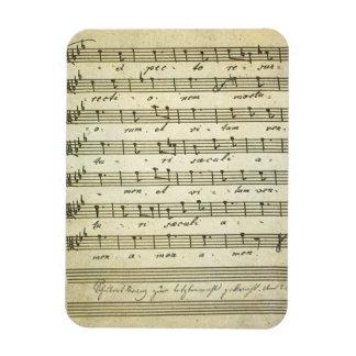 Vintage Sheet Music, Antique Musical Score 1810 Rectangular Photo Magnet