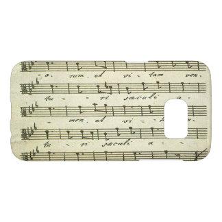 Vintage Sheet Music, Antique Musical Score 1810 Samsung Galaxy S7 Case