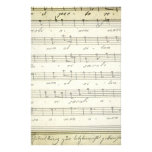 Vintage Sheet Music, Antique Musical Score 1810 Personalized Stationery