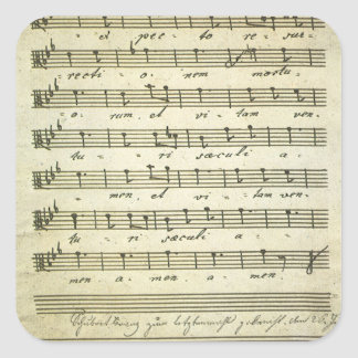 Vintage Sheet Music, Antique Musical Score 1810 Sticker
