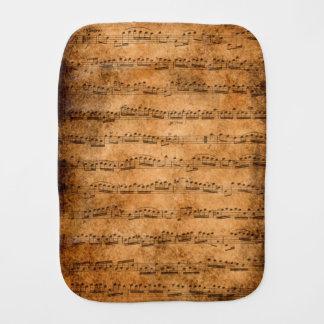 Vintage sheet music baby burp cloth