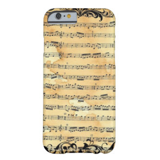 Vintage Sheet Music Barely There iPhone 6 Case