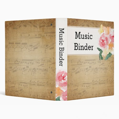 Vintage Sheet Music Binder