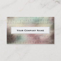 Vintage Sheet Music Business Cards