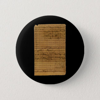 Vintage Sheet Music by Johann Sebastian Bach Button