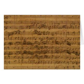 Vintage Sheet Music by Johann Sebastian Bach Greeting Cards