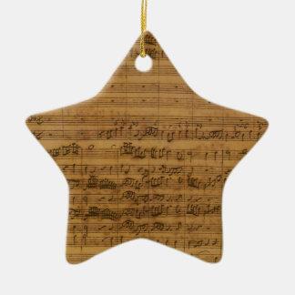 Vintage Sheet Music by Johann Sebastian Bach Ceramic Ornament