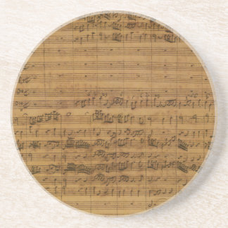 Vintage Sheet Music by Johann Sebastian Bach Coaster