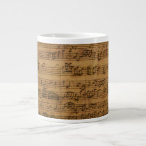 Vintage Sheet Music by Johann Sebastian Bach Giant Coffee Mug