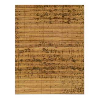 Vintage Sheet Music by Johann Sebastian Bach 4.25x5.5 Paper Invitation Card