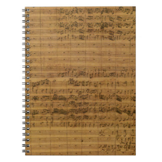 Vintage Sheet Music by Johann Sebastian Bach Notebook