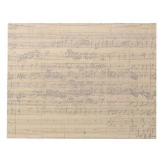 Vintage Sheet Music by Johann Sebastian Bach Memo Note Pad