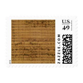 Vintage Sheet Music by Johann Sebastian Bach Postage