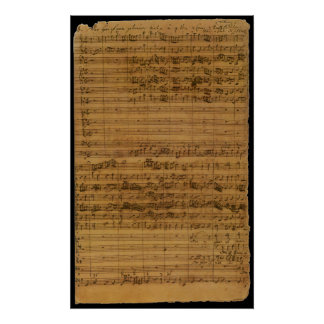 Vintage Sheet Music by Johann Sebastian Bach Poster