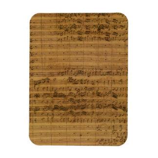 Vintage Sheet Music by Johann Sebastian Bach Flexible Magnet