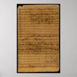Vintage Sheet Music by Johann Sebastian Bach Print