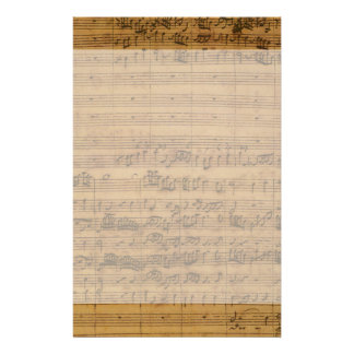 Vintage Sheet Music by Johann Sebastian Bach Stationery Paper