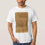 Vintage Sheet Music by Johann Sebastian Bach T-Shirt
