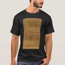 Vintage Sheet Music by Johann Sebastian Bach T-Shirt