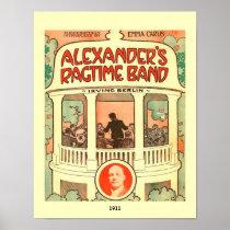 Vintage Sheet Music Cover Alexander's Ragtime Band