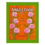 Vintage Sheet Music Cover Copy ANGEL FOOD RAG 1911 Poster