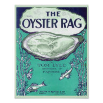 Vintage Sheet Music Cover copy THE OYSTER RAG 1910 Poster