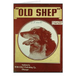 "VINTAGE SHEET MUSIC COVER~""OLD SHEP"" CARD"