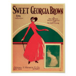 Vintage Sheet Music Cover Sweet Georgia Brown 1925 Poster