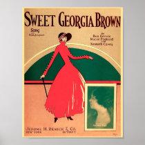 Vintage Sheet Music Cover Sweet Georgia Brown 1925