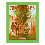 Vintage Sheet Music Crabapple Rag Cover copy Poster