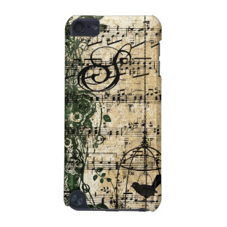 Vintage Sheet Music Cute Birdcage iTouch Case