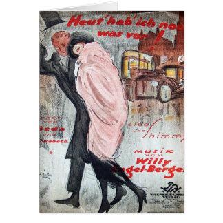 Vintage Sheet Music - Heut hab ich noch was vor Card