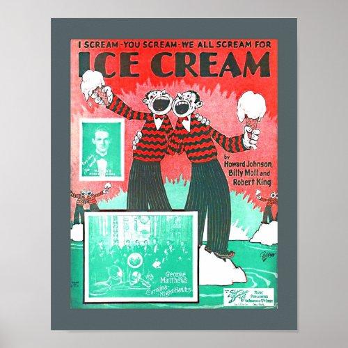 Vintage Sheet Music Ice Cream Howard Johnson copy