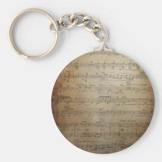 Vintage Sheet Music Key Chains