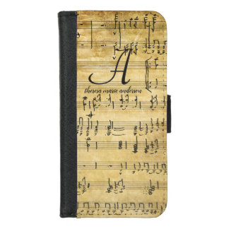 Vintage Sheet Music Ladies Monogram Wallet Case