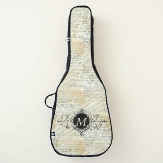 Vintage Sheet Music Monogram Guitar Case