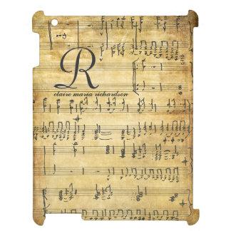 Vintage Sheet Music Monogram iPad Cover