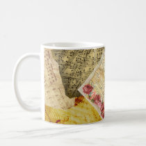 Vintage Sheet Music Musical Notes Coffee Mug