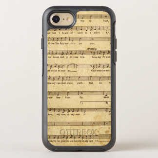 Vintage Sheet Music Notes Aged Cream Colored Lyric OtterBox Symmetry iPhone 7 Case