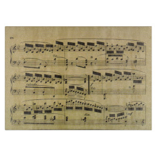 Vintage Sheet Music Paper Musical Notes | Musician Cutting Board