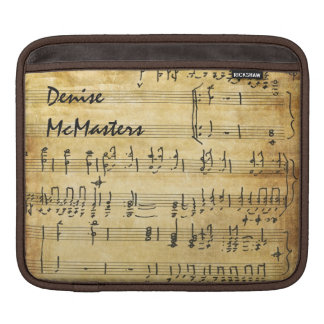 Vintage Sheet Music - Personalized with Name Sleeves For iPads