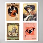 Vintage Sheet Music Poster