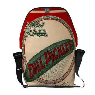 Vintage Sheet Music Retro Dill Pickles Funny Courier Bag