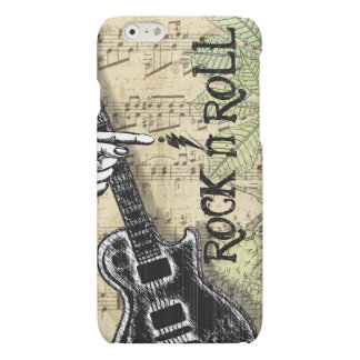 Vintage Sheet Music Rock N Roll Matte iPhone 6 Case
