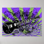 Vintage Sheet Music Rock N Roll Poster