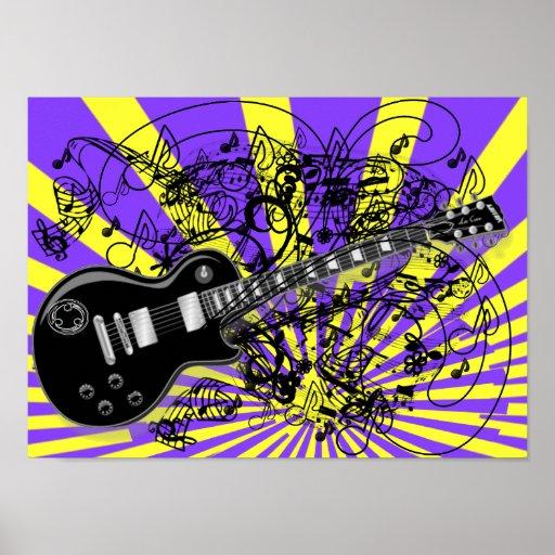 Vintage Sheet Music Rock N Roll Print