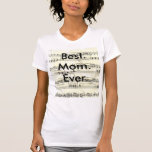 Vintage Sheet Music Rustic Paper Print T-Shirt